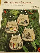 VICTORIA SAMPLER MINI PURSE ORNAMENTS CROSS STITCH CHART
