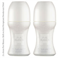 2 x Avon Pur Blanca Roll-On Anti-Perspirant Deodorant Women Fragrance Perfume