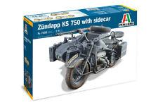 Zundapp Ks 750with Sidecar 1:9 Plastic Model Kit ITALERI