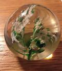 "Vintage Art Glass Paperweight 2.25"" Diameter Modern Unsigned Craftsman"