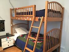 bunk bed, solid wood, Sturdy, easy ladder and safety railings