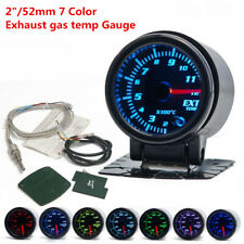 1Pcs DC (10-15V) Exhaust Gas Temp Gauge 7Color LED w/ Sensor Holder 2Inch 52mm