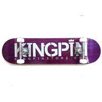 "KINGPIN Skate Supply Complete Skateboard Purple 8"""