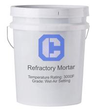 Refractory Cement Wet Mortar 3000℉- 55lb Pail