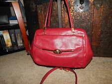 Coach Handbag 25166 Madeline Madison Scarlet Red Leather Purse Authentic Bag