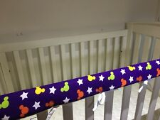 2 x Reversible Baby Cot Crib Teething Rail Cover Protector ~ Mickey Mouse