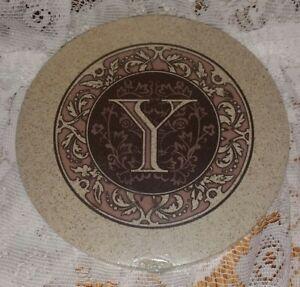 New Thirstystone Sandstone Trivet Monogrammed Letter Y
