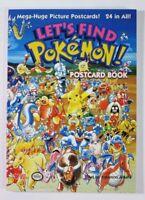 2001 Let's Find Pokemon Postcard Paperback Book NEW
