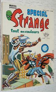PETIT FORMAT MARVEL LUG SPECIAL STRANGE EO N°27 1982 X-MEN SPIDERMAN CHOSE