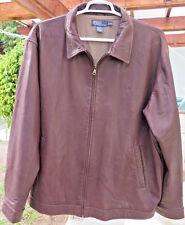EUC Genuine POLO by RALPH LAUREN Lambskin Leather Jacket Sz XXL 2XL Brown Color