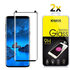2X KS For Samsung Galaxy S9 Plus 3D Full Cover Tempered Glass Screen Protector