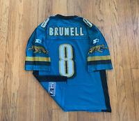 Jacksonville Jaguars Vintage 90's Mark Brunell Starter Jersey Mens 46 M EUC Teal