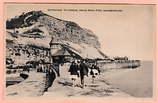 Vintage postcard. Entrance to Marine Drive from Pier, Scarborough, Yorkshire
