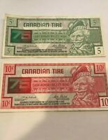 Canadian Tire Money 10c and 5c 75th Year Anniversary
