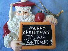 House of Lloyd Merry Christmas ...to... An .. A+ Teacher Santa Ornament