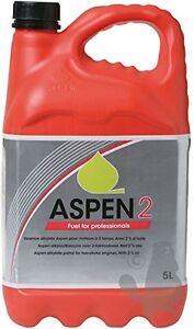 ASPEN 2 FUEL 5L 5 LITRE CAN 50:1 PREMIXED 2 STROKE. LONG LIFE FUEL