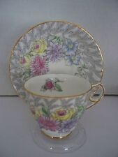 Fern Posey Teacup & Saucer by Royal Stafford Bone China