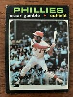 "1971 Topps Baseball # 23 - Oscar Gamble (Phillies) ""VG/EX+"""