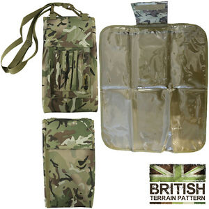 Army Combat  Military Map Case Pouch Waterproof Cover Camo Holder Camping Hiking