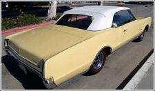 1966-1967 Skylark GTO Chevelle Convertible Top Plastic Window & Pads, GM White