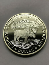 1985 Canada Proof Silver Dollar National Parks #8941
