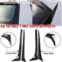 Car Rear Window Side Spoiler Wing for VW Golf MK7 2014-2018 Carbon Fiber Pair