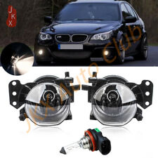 Front Fog Light Clear Lens Lamp w/ Bulb For BMW E60 E90 E63 E46 323i 325i 525i