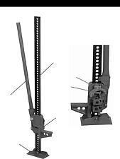 "Jack Handyman Jack 3.5 TON Capacity, 7,000 lbs  42"" Farm Jack - Off-Road -"