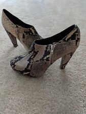 967e0383a64fa Loeffler Randall Women's Shoes Snakeskin Leather Heels Zipper Size 7.5 FREE  SHIP