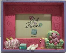 "Russ Girl Powrrr Picture Frame 5"" x 3.5"", Contemporary Pink"