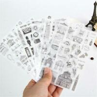 6Sheets DIY Album Stickers Diary Scrapbook Calendar Decals Cute Decoration