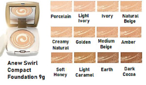 Avon Anew Swirl Age Transforming 2 In 1 Compact Foundation, 9g, Lots of Shades