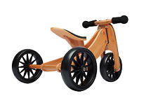 Kinderfeets 2 in 1 Tiny Tot Trike and Balance Bike- Bamboo