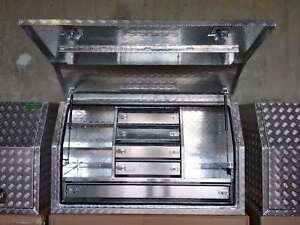 Aluminium Toolboxes Heavy Duty Full Door ute with 5 Drawers 140x60x82cm