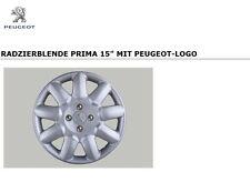 "Original PEUGEOT Satz Radkappe Radzierblende 15 Zoll 9606QF ""PRIMA"" NEU"