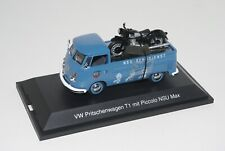 Schuco 1/43 VOLKSWAGEN VW PRITSCHENWAGEN splitscreen PICKUP NSU MAX MOTORCYCLE