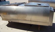 Embee 400 Gallon Flat Top Stainless Steel Bulk Milk Tank