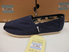 TOMS WOMENS SHOES CLASSIC CANVAS NAVY SIZE 8.5