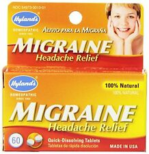 3 Pack - Hylands Migraine Headache Relief All Natural 60 Tablets Each