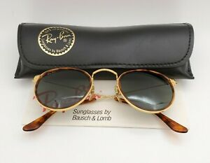 Vintage B&L Ray Ban Bausch & Lomb G15 Gray Round Tortuga Sunglasses W1675 w/Case