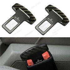 Carbon Fiber Alloy Safety Seatbelt Buckle Alarm Stopper Null Insert For Car SUV