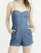 Abercrombie & Fitch Chambray Button-Down Romper, Large. RRP £58