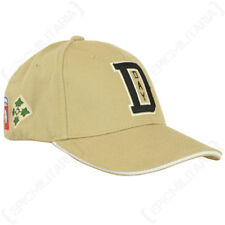 Khaki D-Day Baseball Cap - American Sun Peak Hat Military Army Soldier USA New