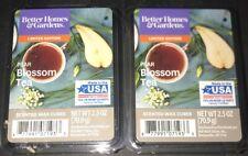 2  BETTER HOMES & GARDENS Wax Melts PEAR BLOSSOM TEA 2.5 Oz Each