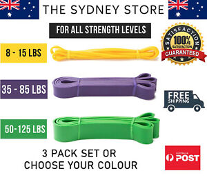 AUS STOCK HEAVY DUTY RESISTANCE BANDS FITNESS GYM EXERCISE YOGA PULL UP TRAINING