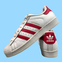 Adidas Superstar Women's Shoes Size Uk 5.5 White Pink Casual Trainers EUR 38.5