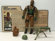 GI Joe Roadblock Heavy Machine Gunner Complete w/Card 1984 Hasbro ARAH