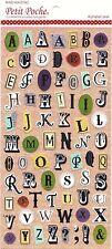 Stile Vintage Oro Foglia Lettera Dell' Alfabeto Adesivi Cancelleria Scrapbooking