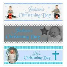 X 2 PERSONALISED CHRISTENING NAMING DAY BAPTSIM PARTY NAME PHOTOGRAPH BANNERS