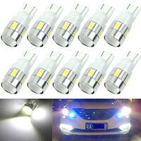 10x T10 W5W 5630 6-SMD Car Wedge Side LED Light Bulb Lamp 168 194 192 158 White